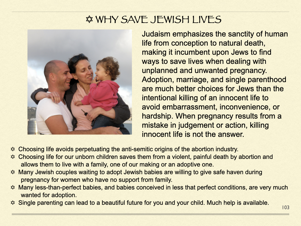 Why Save Jewish Lives