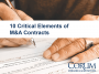 Artwork for Tech M&A Monthly: 10 Critical Elements for M&A Contracts - 1 & 2
