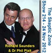 The Skeptic Zone #214 - 24.Nov.2012