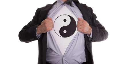 Image of man with Ying Yang on T-shirt - TheRealTruthAboutYou.com