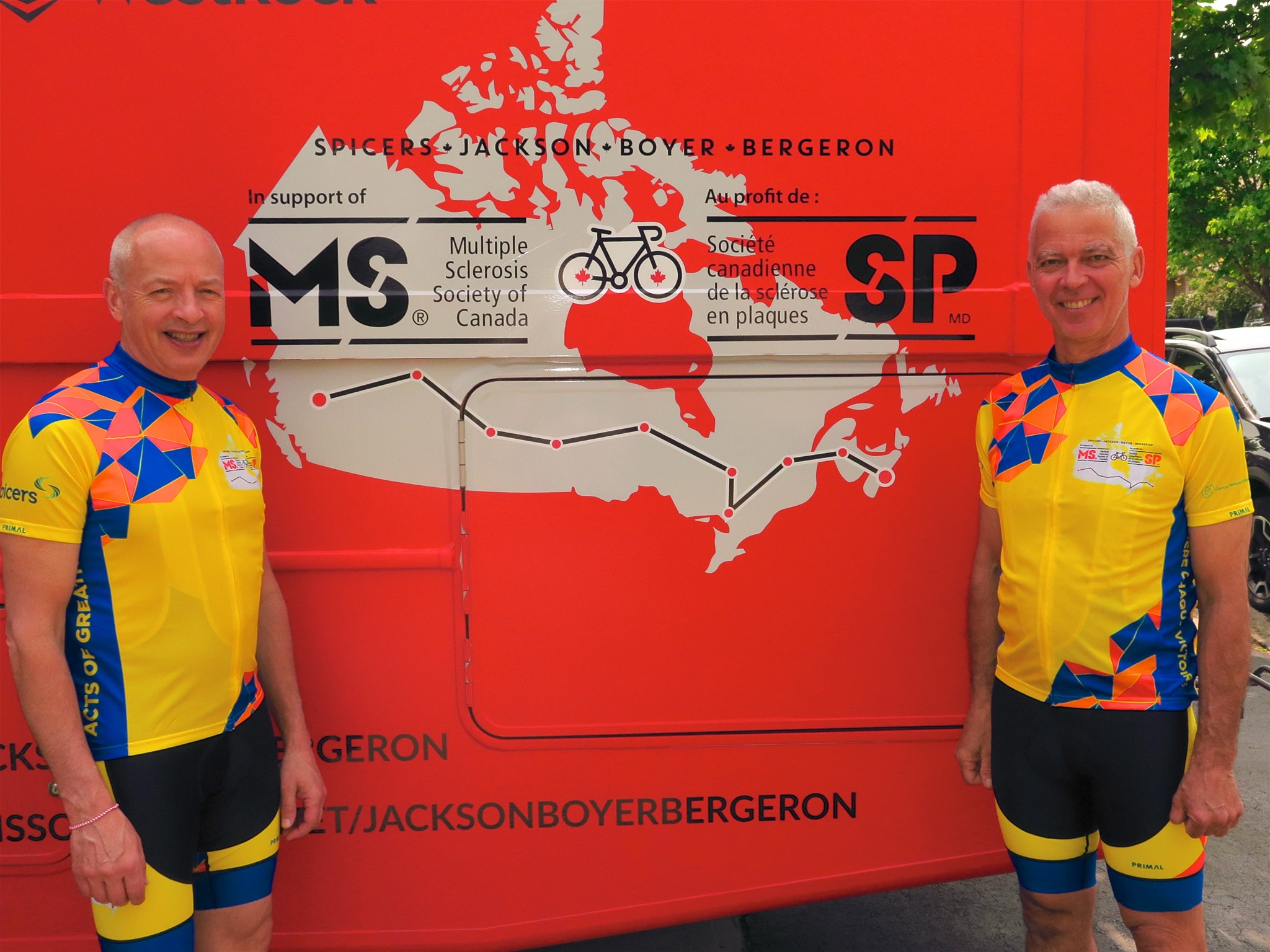 Marc Boyer Bikes Across Canada for MS