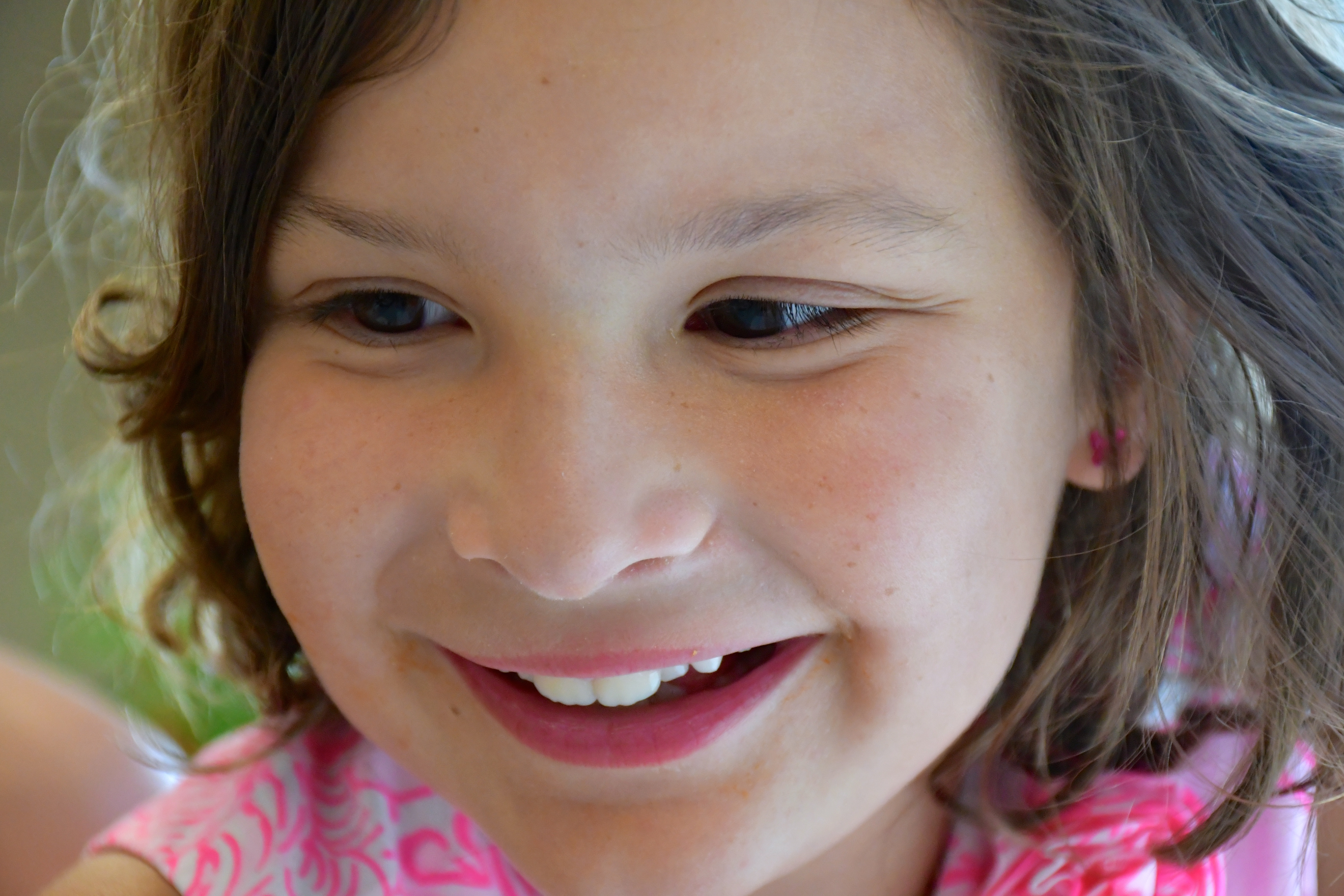Grace smiles