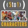 Artwork for 4 - Marvel Characters - 5 to 1