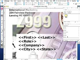 Use DataMerge in InDesign CS3