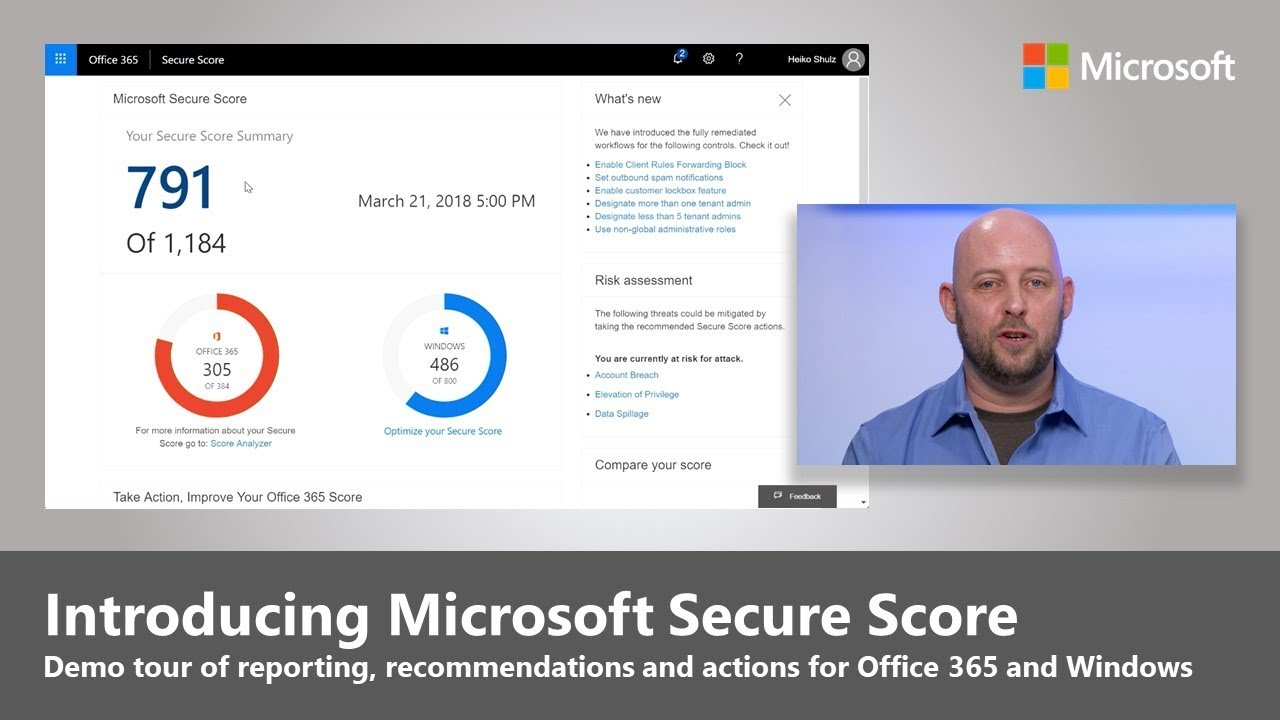 Artwork for Introducing Microsoft Secure Score for Office 365 and Windows 10