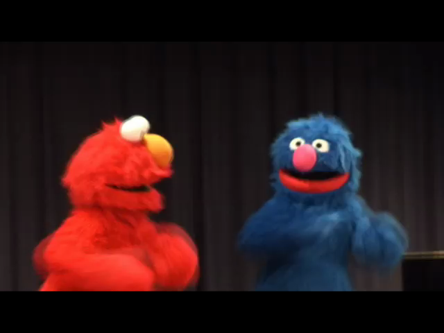 Artwork for Elmo and Grover Visit the Library! (Video)