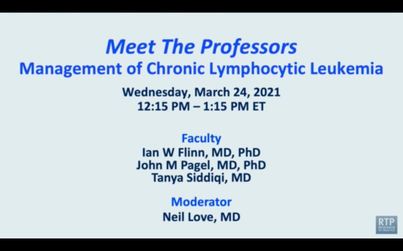 Artwork for Chronic Lymphocytic Leukemia   Meet The Professors: Management of Chronic Lymphocytic Leukemia