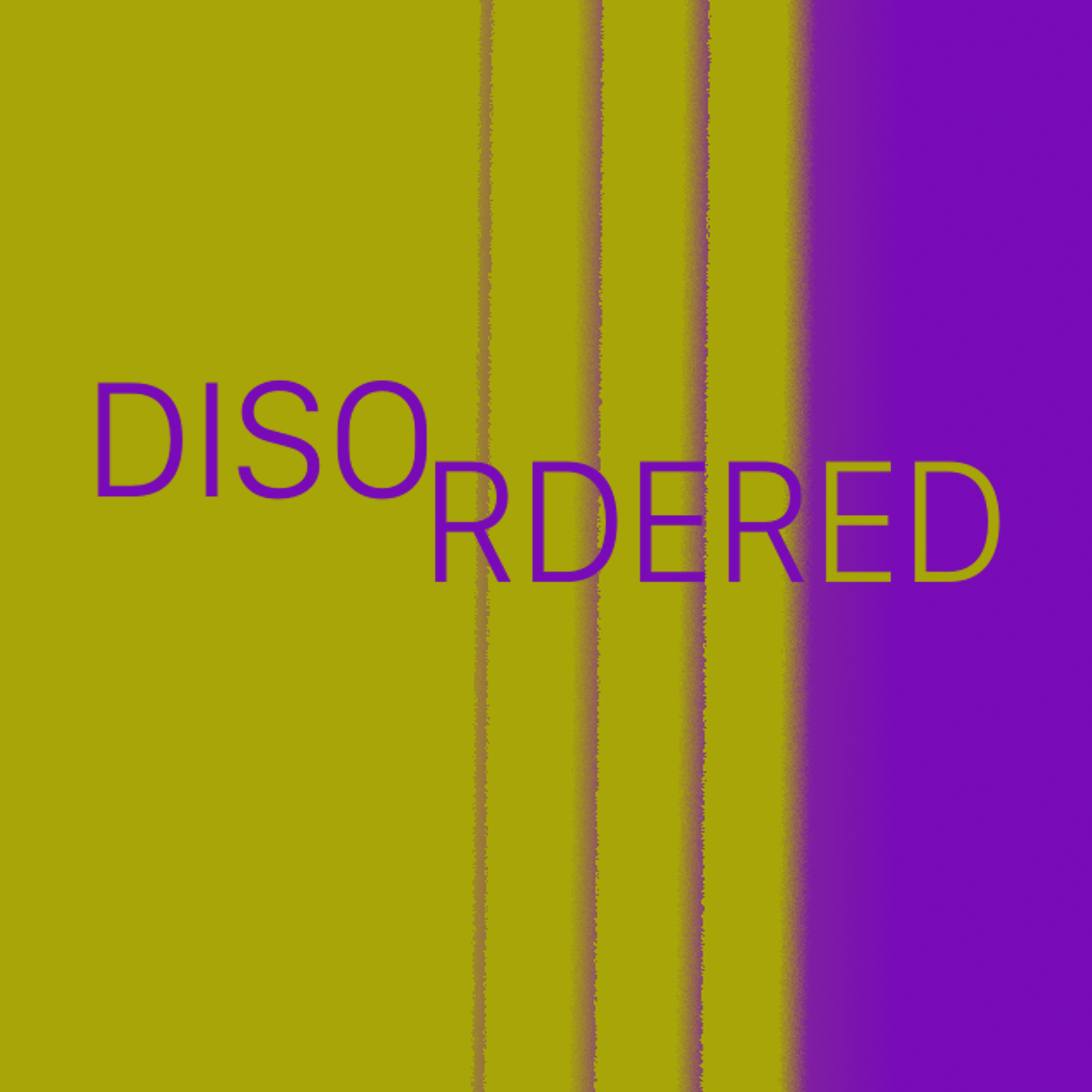 Disordered show art