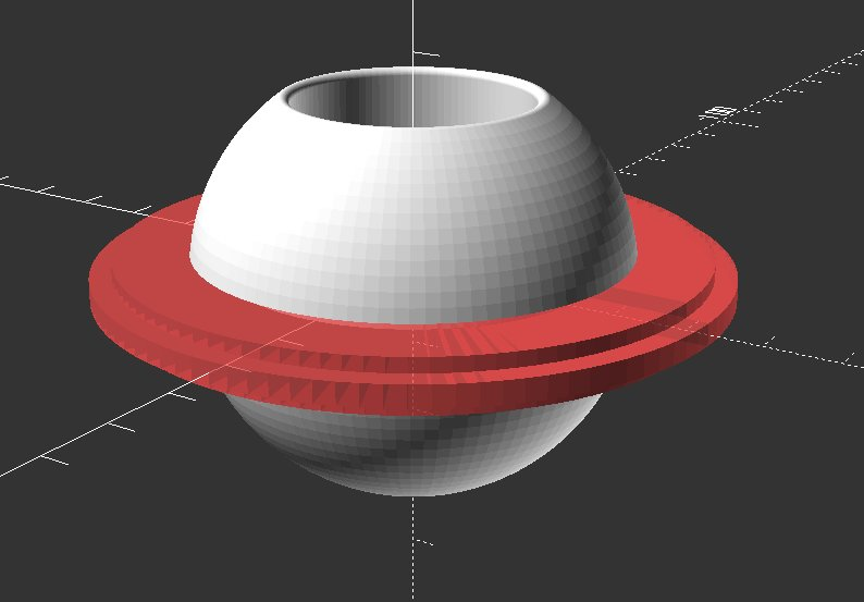 sphere with disk