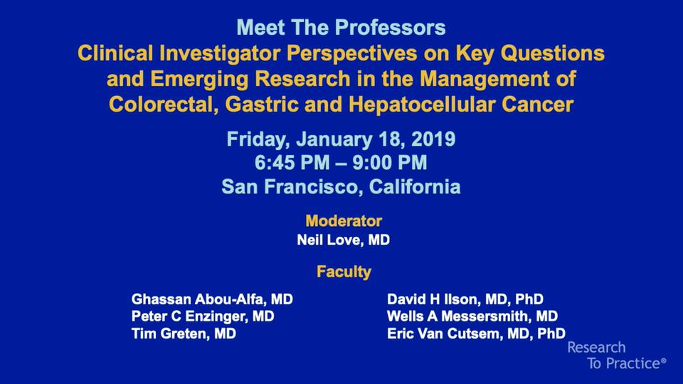Artwork for GI | Meet The Professors: Clinical Investigator Perspectives on Key Questions and Emerging Research in the Management of Colorectal, Gastric and Hepatocellular Cancer