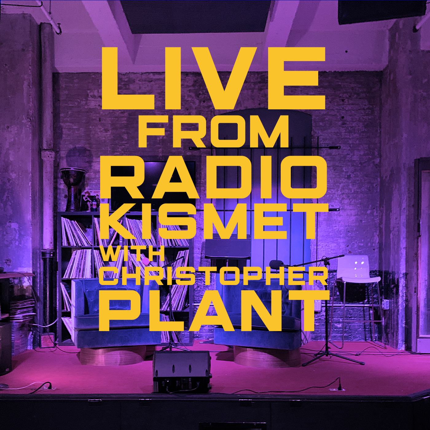 Live from RADIOKISMET with Christopher Plant show art