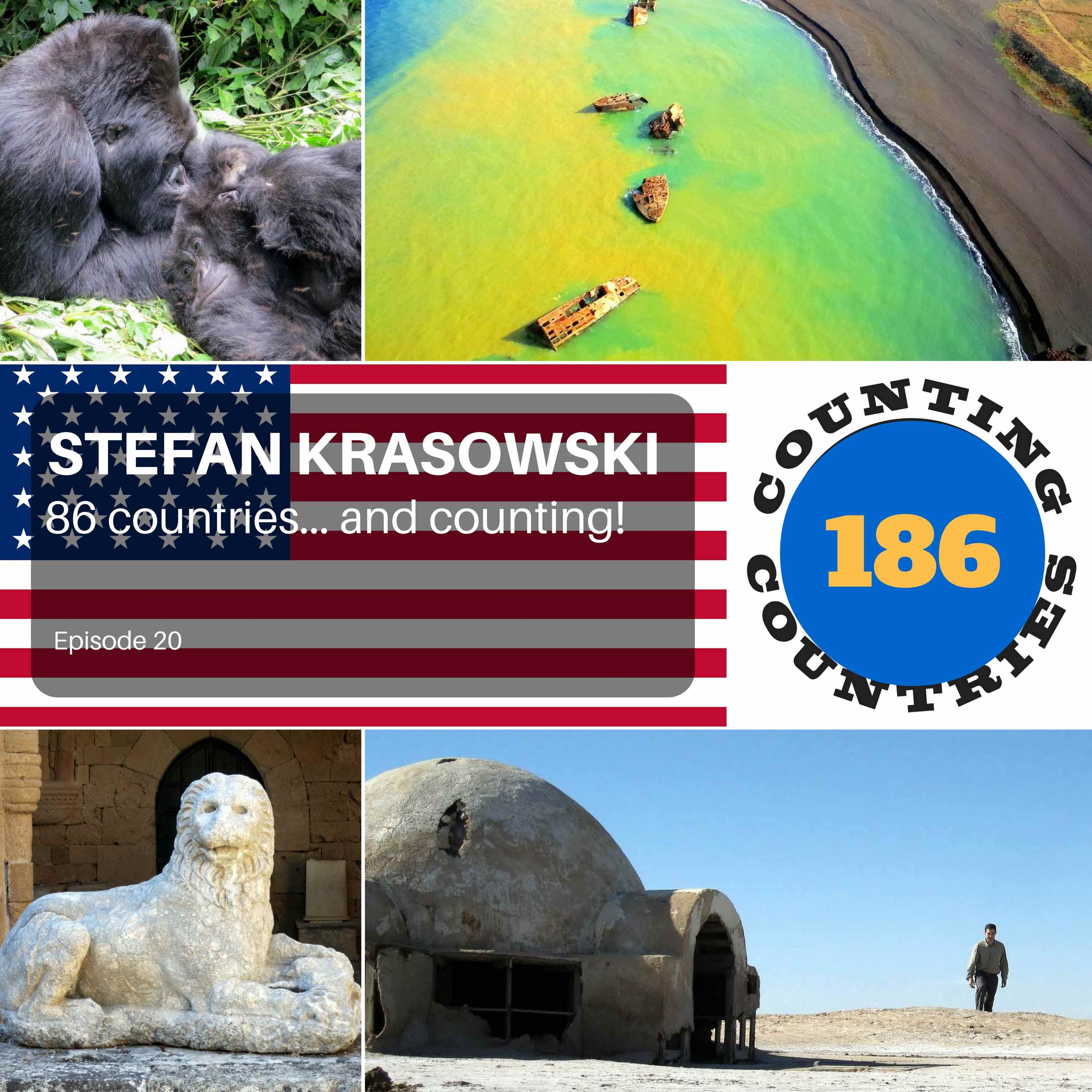 Stefan Krasowski - 186 countries... and counting!