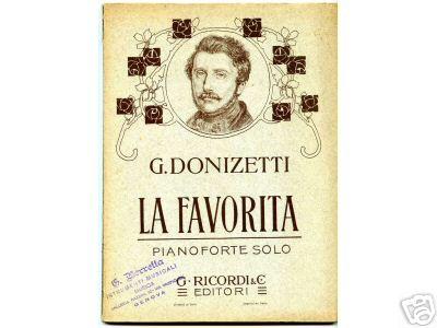 """Donizetti's """"La Favorita."""""""