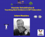 Artwork for Adam Meakins-  Shoulder Rehabilitation & Teaching Best Evidence in Physiotherapy Education
