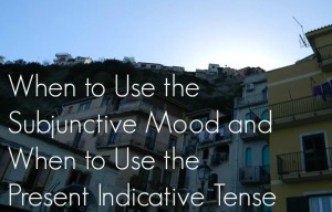 When to Use the Subjunctive Mood and When to Use the Present Indicative Tense