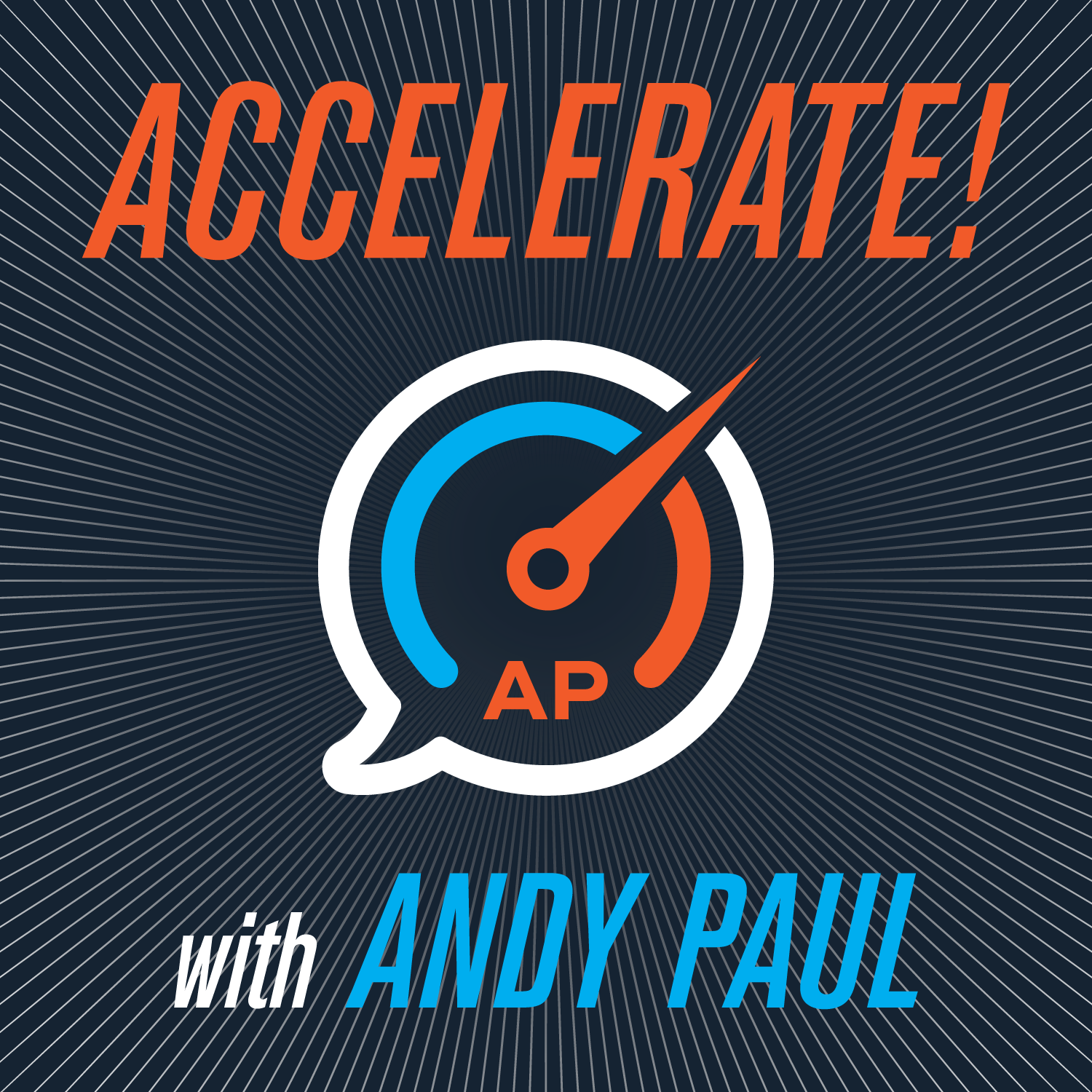 Accelerate! with Andy Paul show art