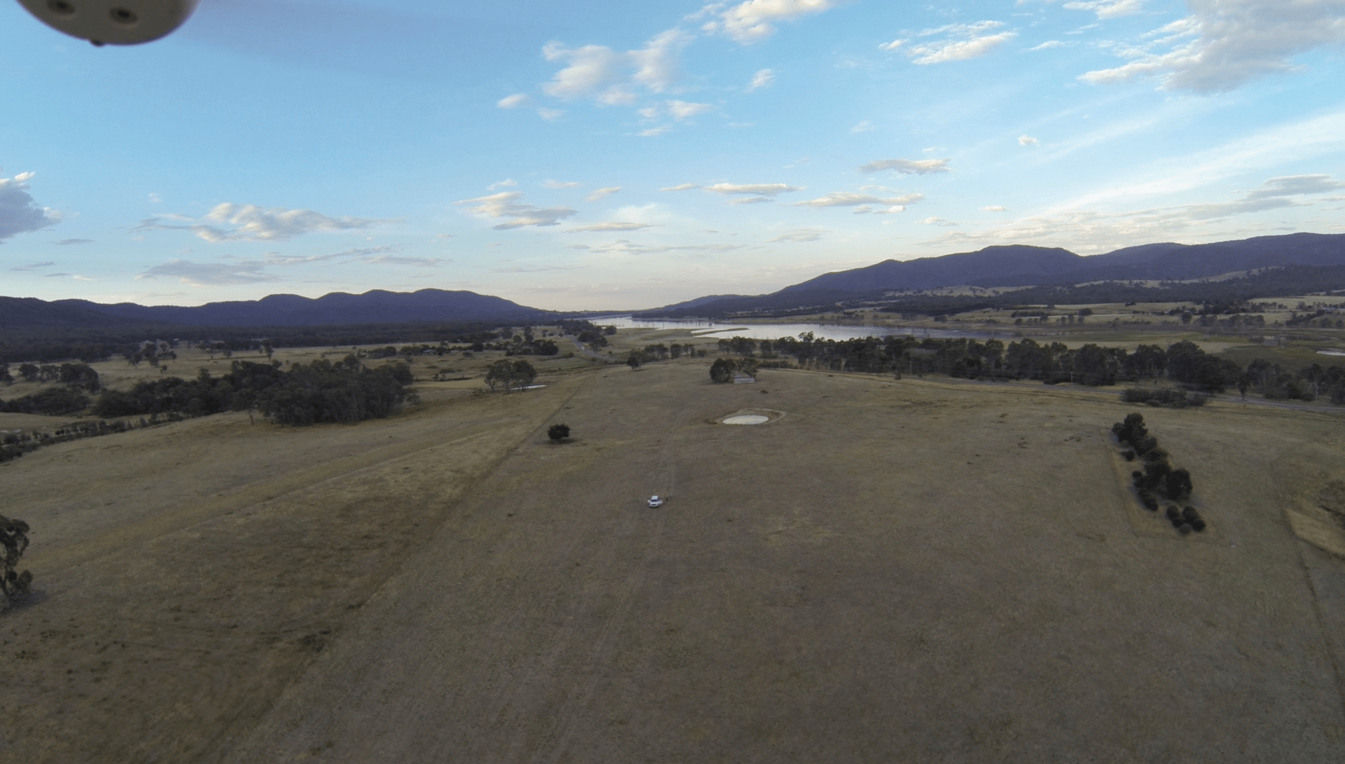 Drone shot of property, from the very beginning.
