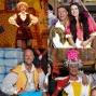Artwork for Panto: Nottingham Playhouse's Jack and the Beanstalk and Birmingham Hippodrome's Snow White