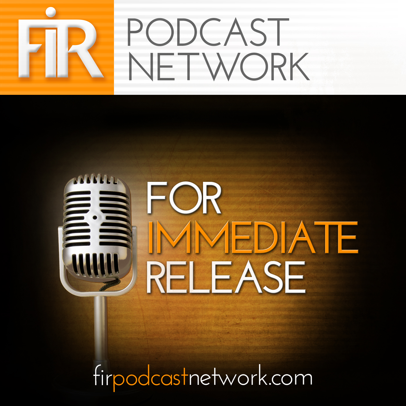For Immediate Release Podcast show art