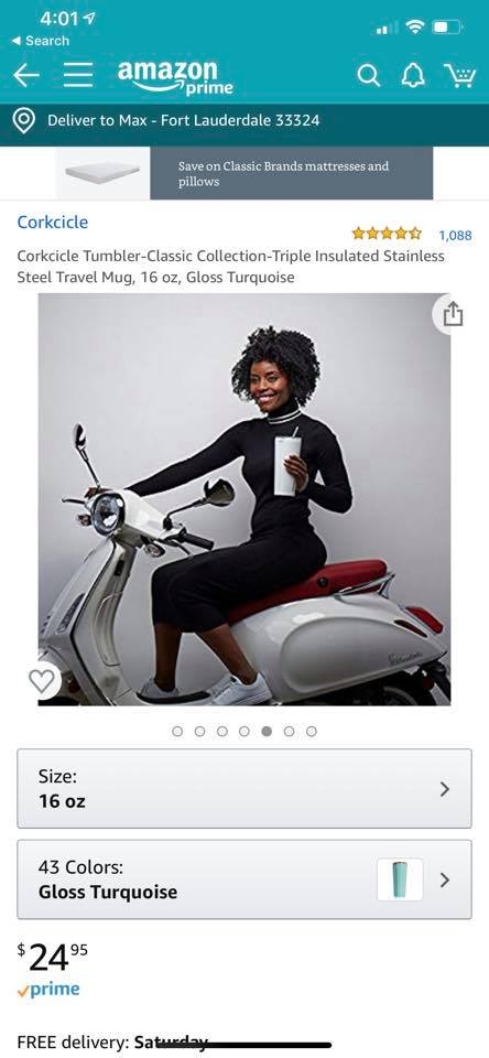 Max's Wife in an ad
