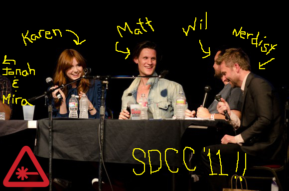 Matt Smith, Karen Gillan, Wil Wheaton Live at SDCC '11!