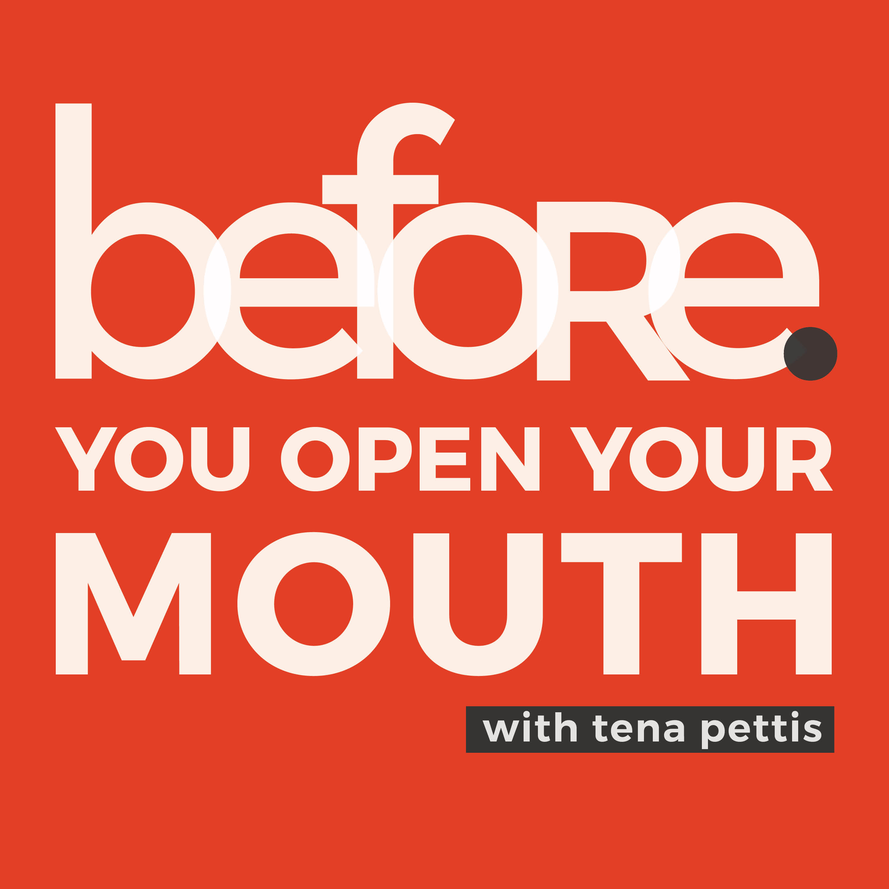 before. you open your mouth show art