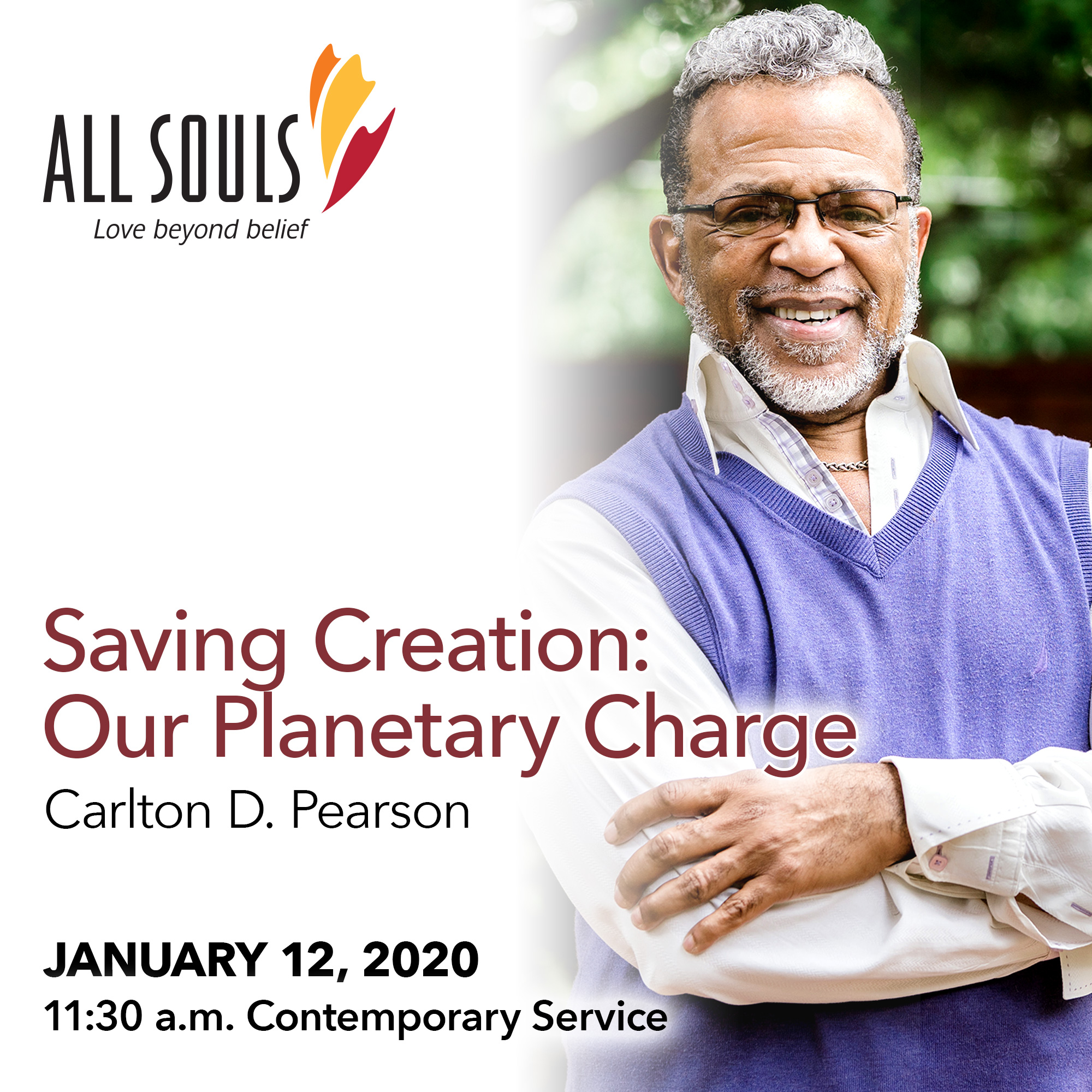 'SAVING CREATION: OUR PLANETARY CHARGE' - A sermon by Carlton D. Pearson (Contemporary Service) show art