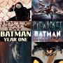 Artwork for Week 101: (Happy Death Day, Pyewacket, Batman Year One, Batman & Harley Quinn)