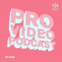 Artwork for Pro Video Podcast 59: Aaron Covrett, 3D Artist working in Interactive and Motion Graphics. Cinema 4D, Houdini, Octane, Lighting, Simulations and Rendering.