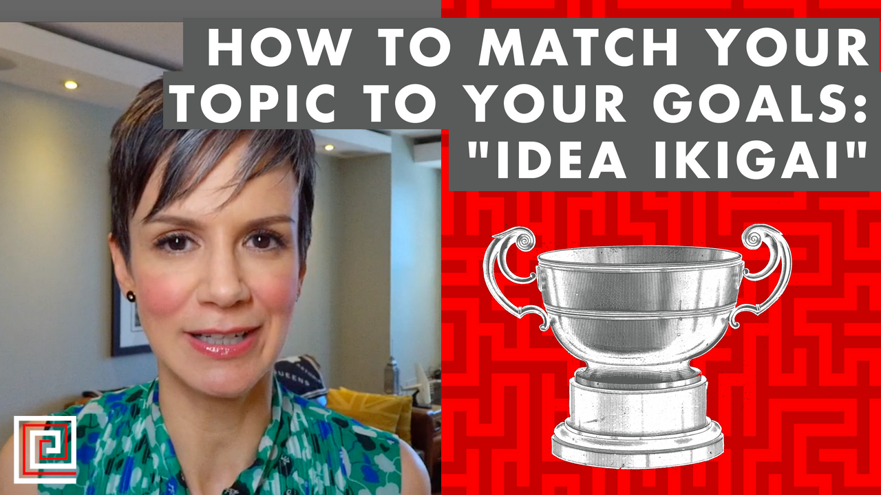 """Artwork for EP079: How to Match Your Topic to Your Goals: """"Idea Ikigai"""""""