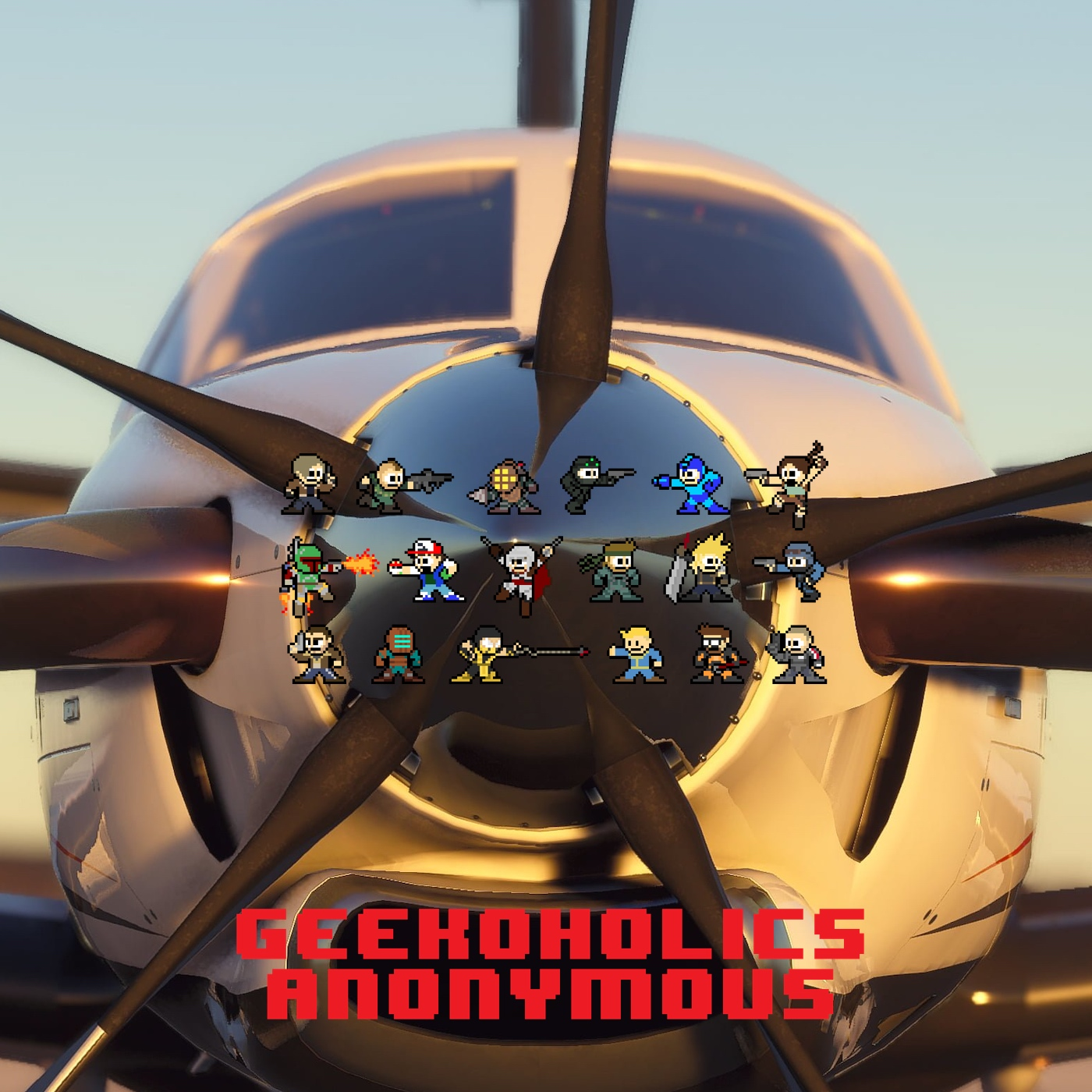 Artwork for Flight Simulator, Rogue Legacy 2, Avengers Beta and more - Geekoholics Anonymous Podcast 268
