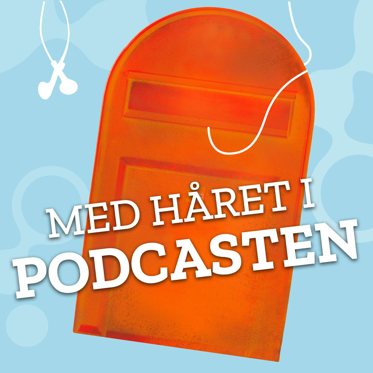 Med håret i podcasten show art