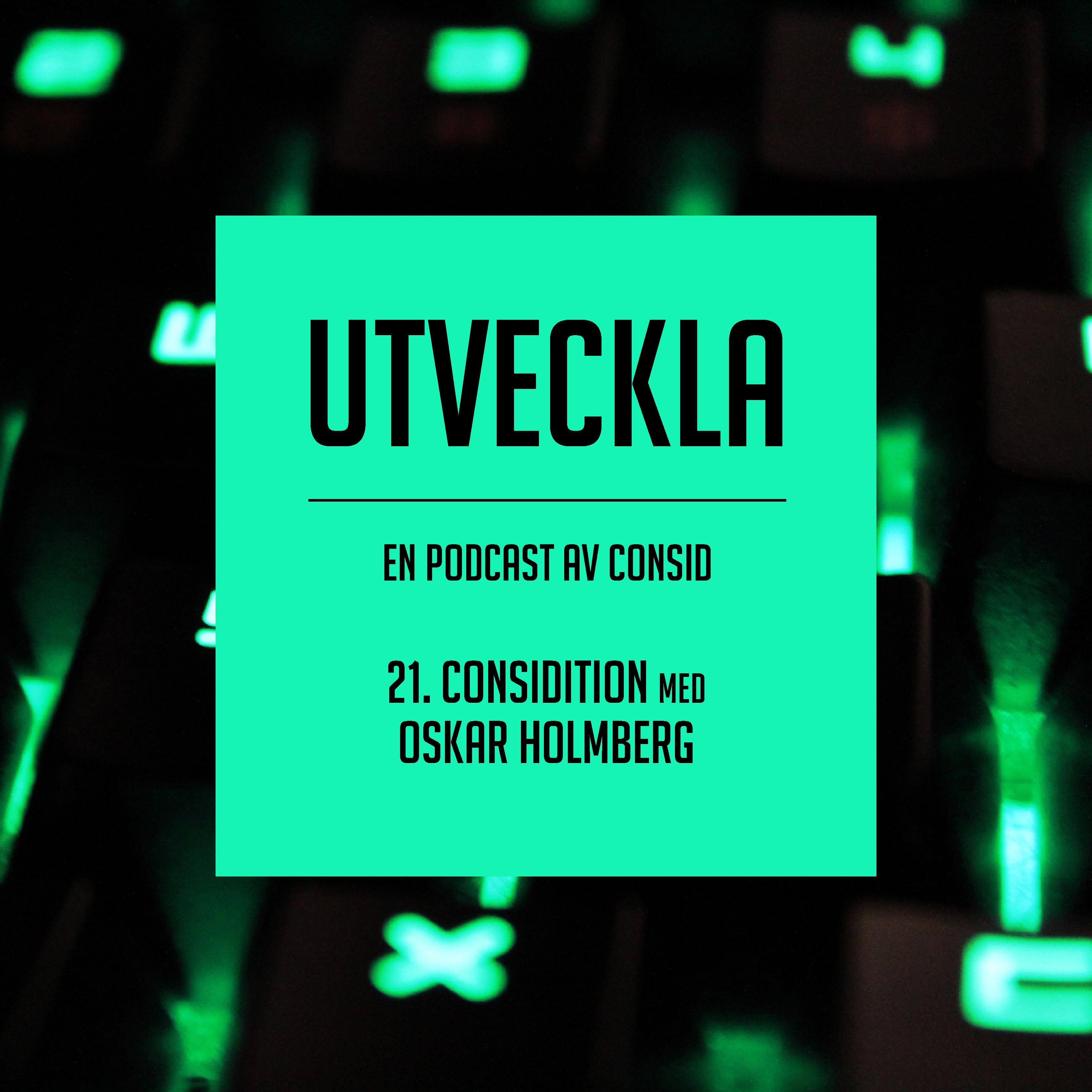 E-sportshackatonet Considition den 8 okt | Oskar Holmberg, tekniskt ansvarig Considition 2020