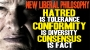 Artwork for The new liberal philosophy: HATRED is tolerance; CONFORMITY is diversity