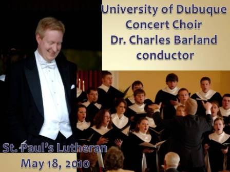 University of Dubuque Concert Choir and Chamber Singers