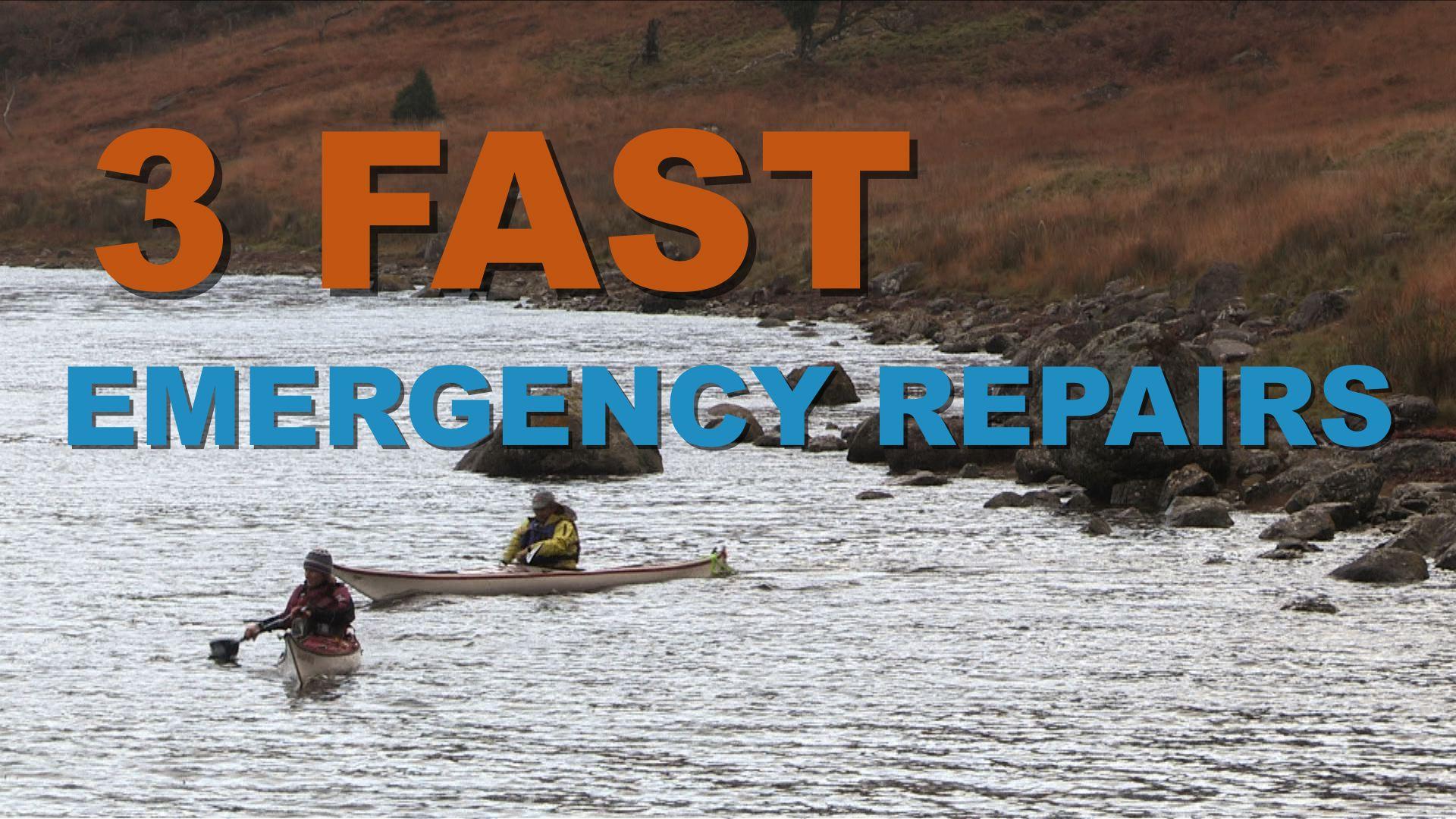 Artwork for 3 Fast Emergency Kayak Repairs