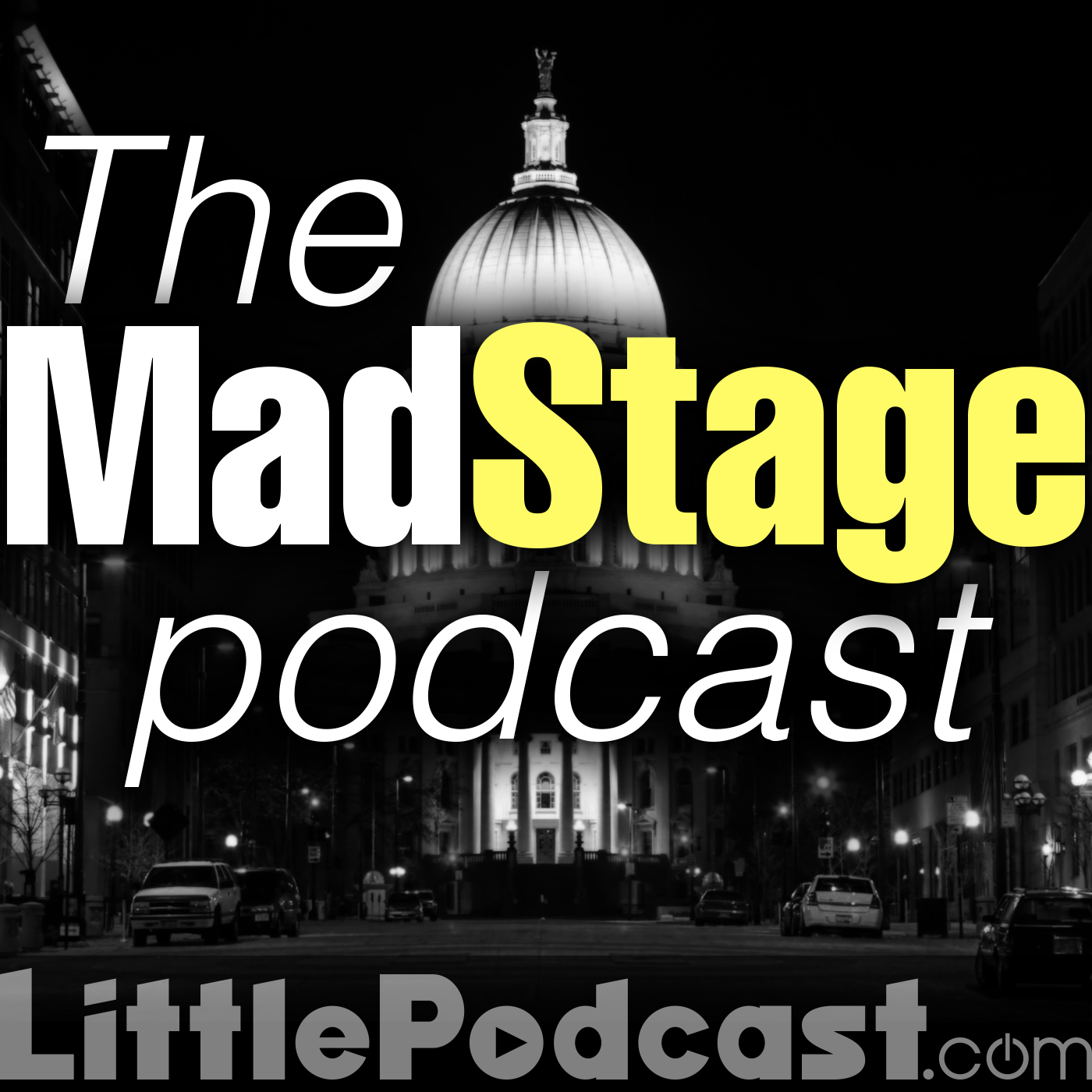 the MadStage Podcast logo