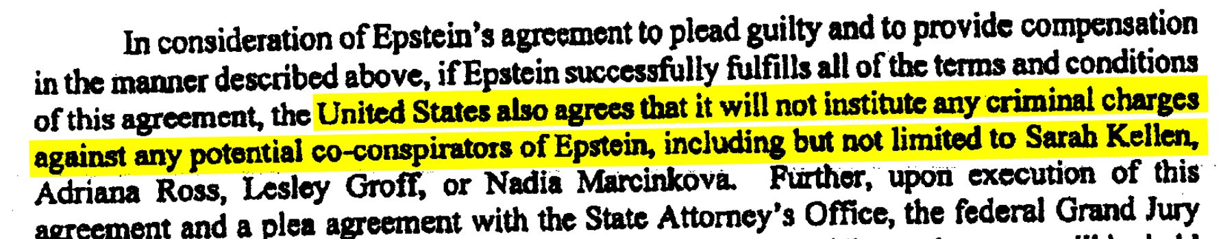 Portion of Non-Prosecution of Co-Conspirators Clause