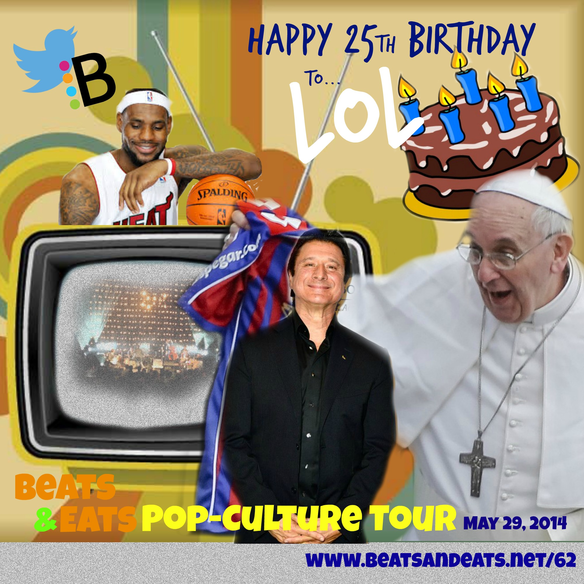 B&E #62: Pop-Culture Pope Francis Tour | LeBron James Mobile APP | Steve Perry | Journey | Twitter and Billboard Charts