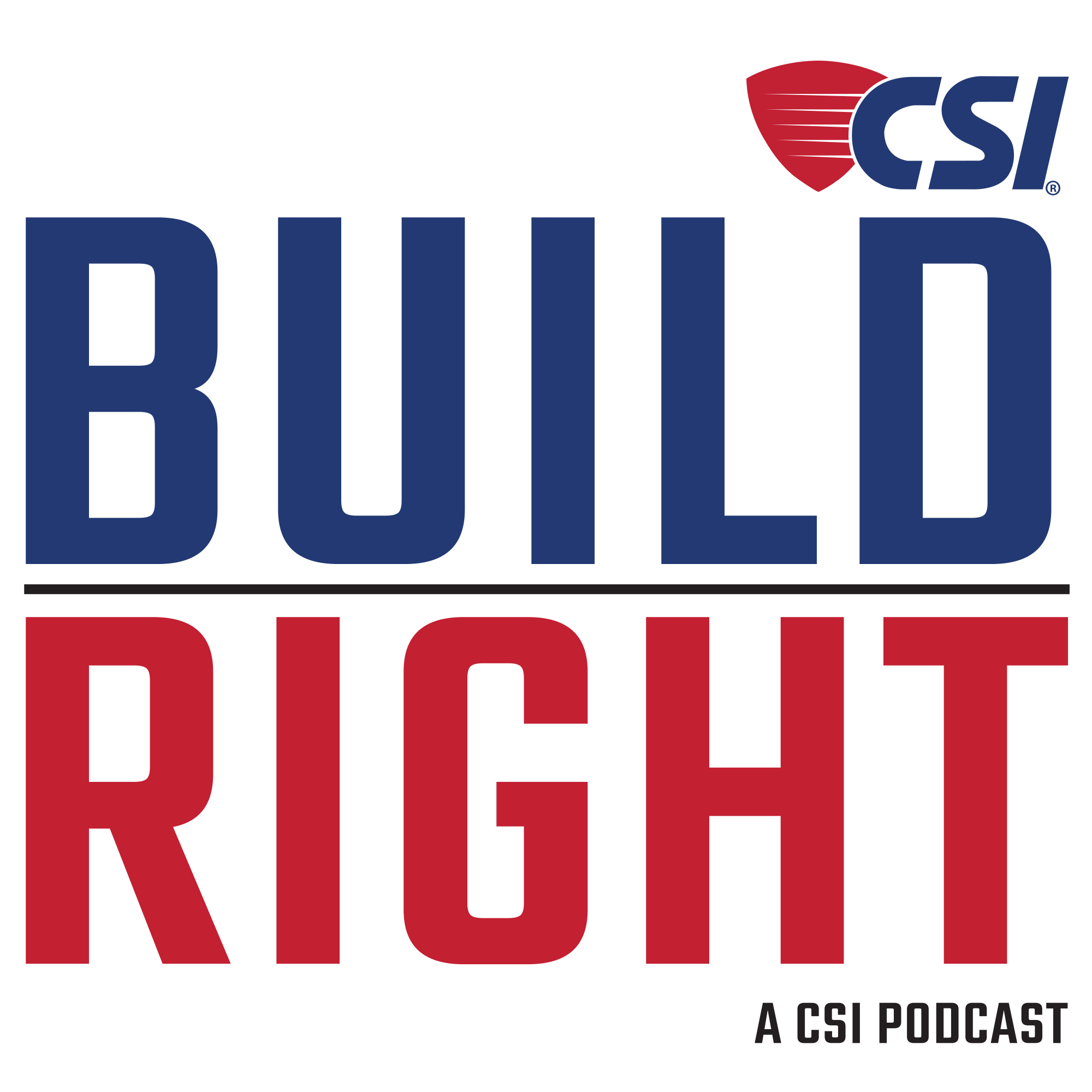 Build Right Podcast show art