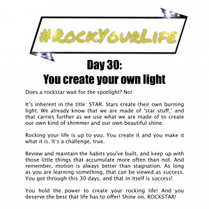 DAY 30 #RockYourLife!