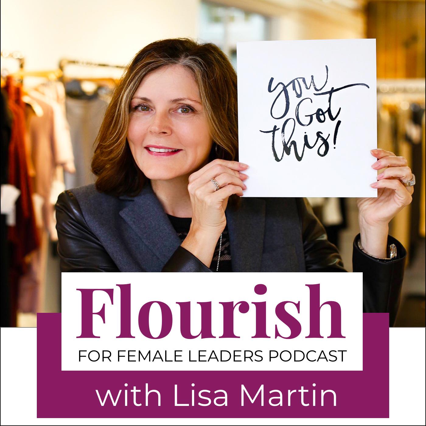 FLOURISH for Female Leaders podcast show art