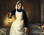 Artwork for THE LADY WITH THE LAMP: THE STORY OF FLORENCE NIGHTINGALE by ELMER ADAMS AND WARREN FOSTER