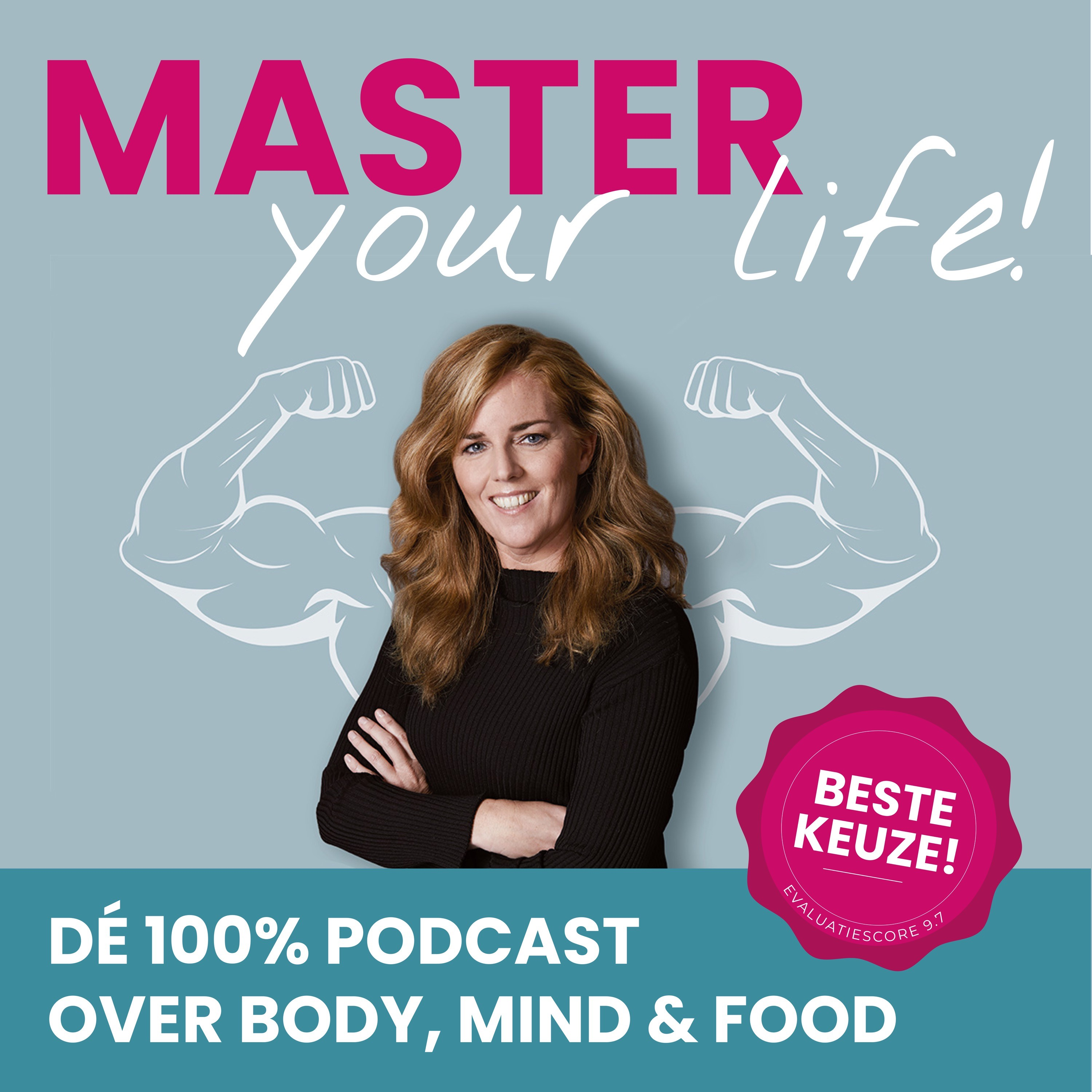 Dé 100% Podcast over Body, Mind & Food show art