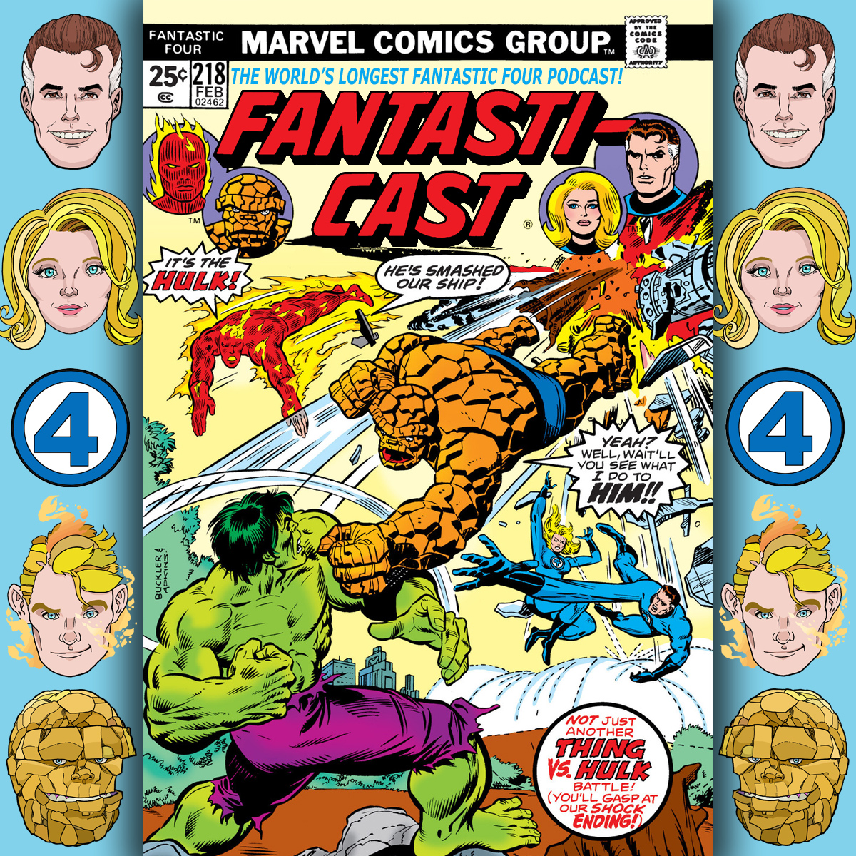 Episode 218: Fantastic Four #166 - If It's Tuesday, It Must Be The Hulk