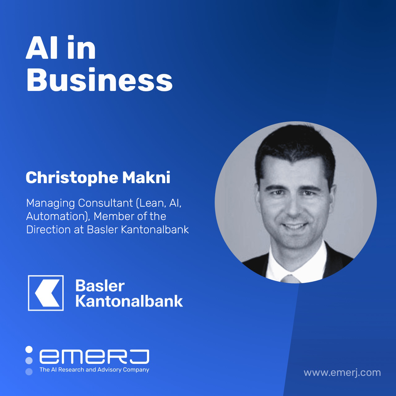 Creating a Culture of Innovation for AI - with Christophe Makni of Basler Kantonalbank