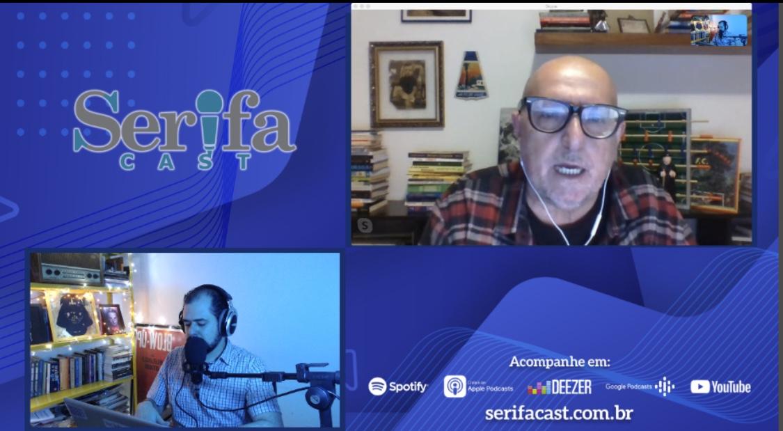 Layout de gravação remota em vídeo do SerifaCast