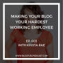 Artwork for Ep. 003 - Making Your Blog Your Hardest Working Employee with Krista Rae