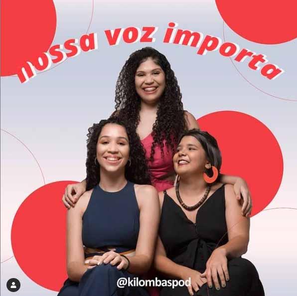 Integrantes do Podcast Kilombas