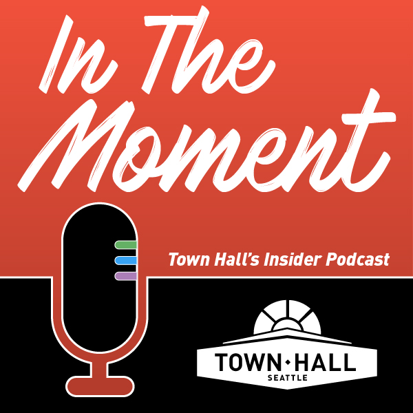In The Moment podcast show art